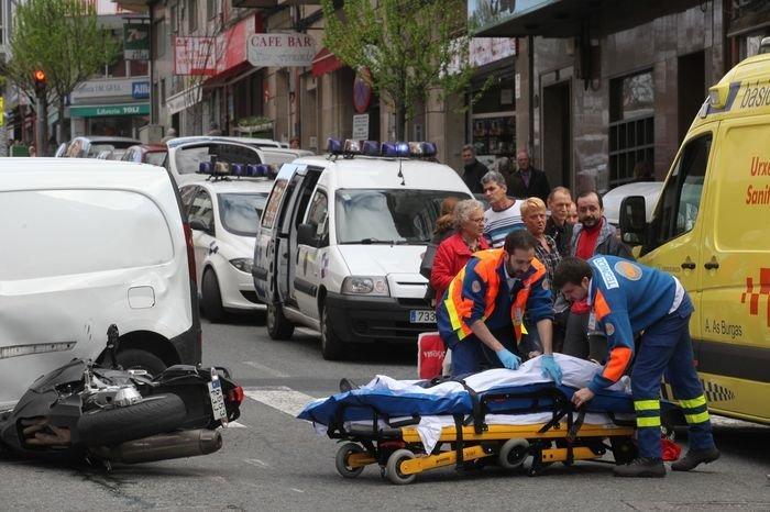 En imágenes, el accidente del motorista herido en Ourense ...