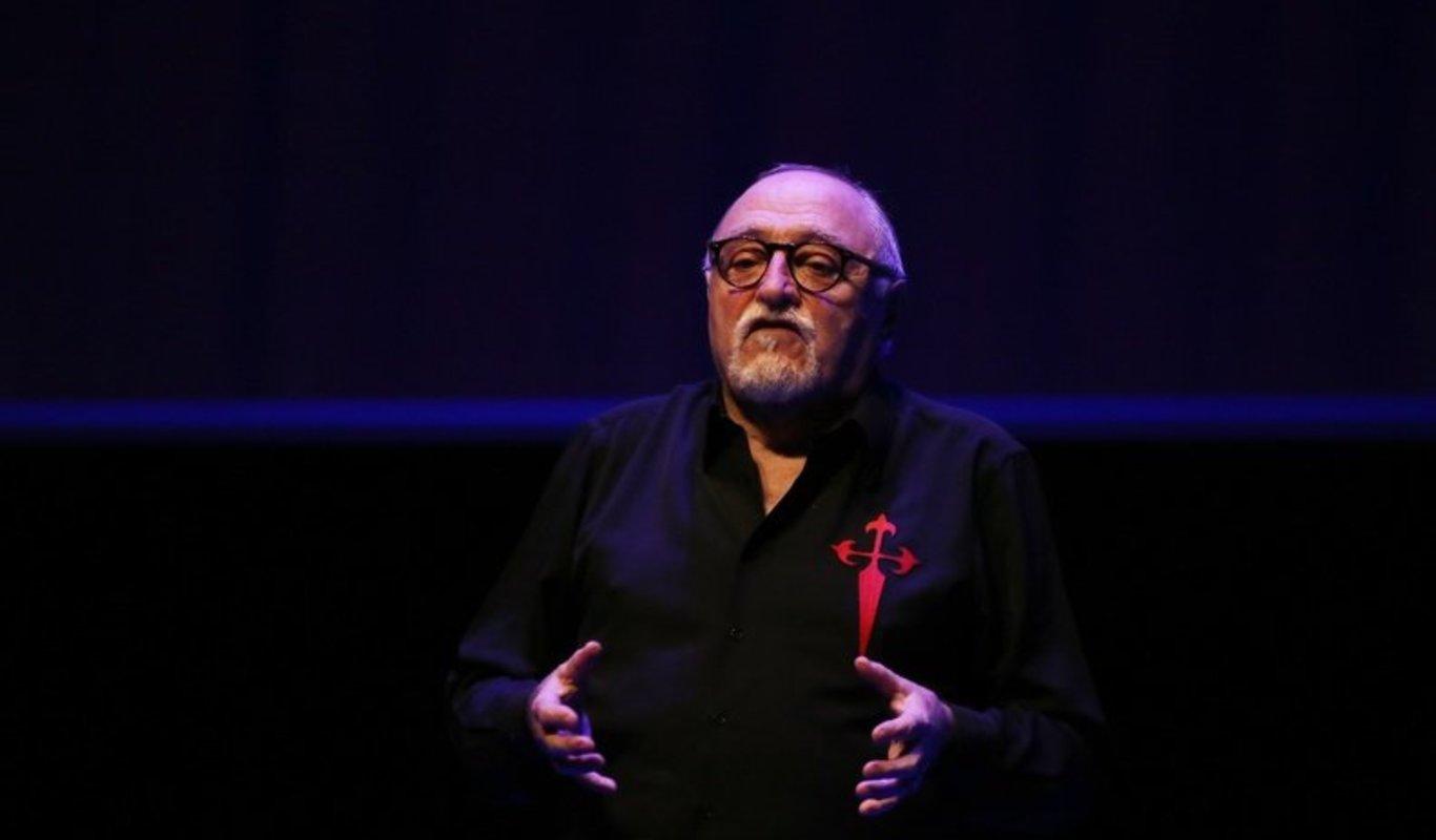 Moncho Borrajo en su último espectáculo en la ciudad (IVÁN DACAL).