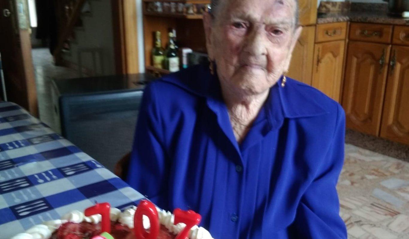 Asunción Rodríguez sopló 107 velas este jueves.