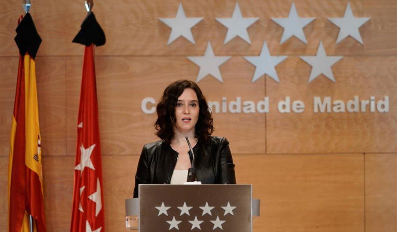La presidenta madrileña, Isabel Díaz Ayuso.