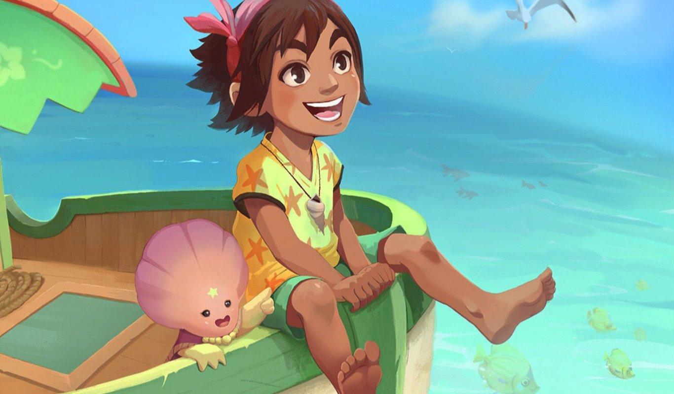 """Detalle de una ilustración promocional del videojuego """"Summer in Mara"""", de Chibig Games."""