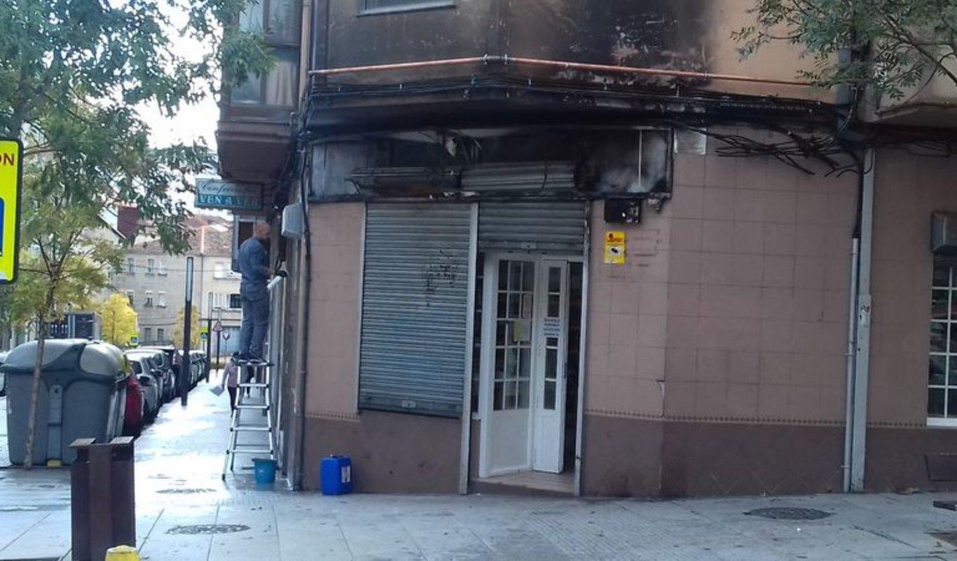 Los daños en el establecimiento aún son visibles.