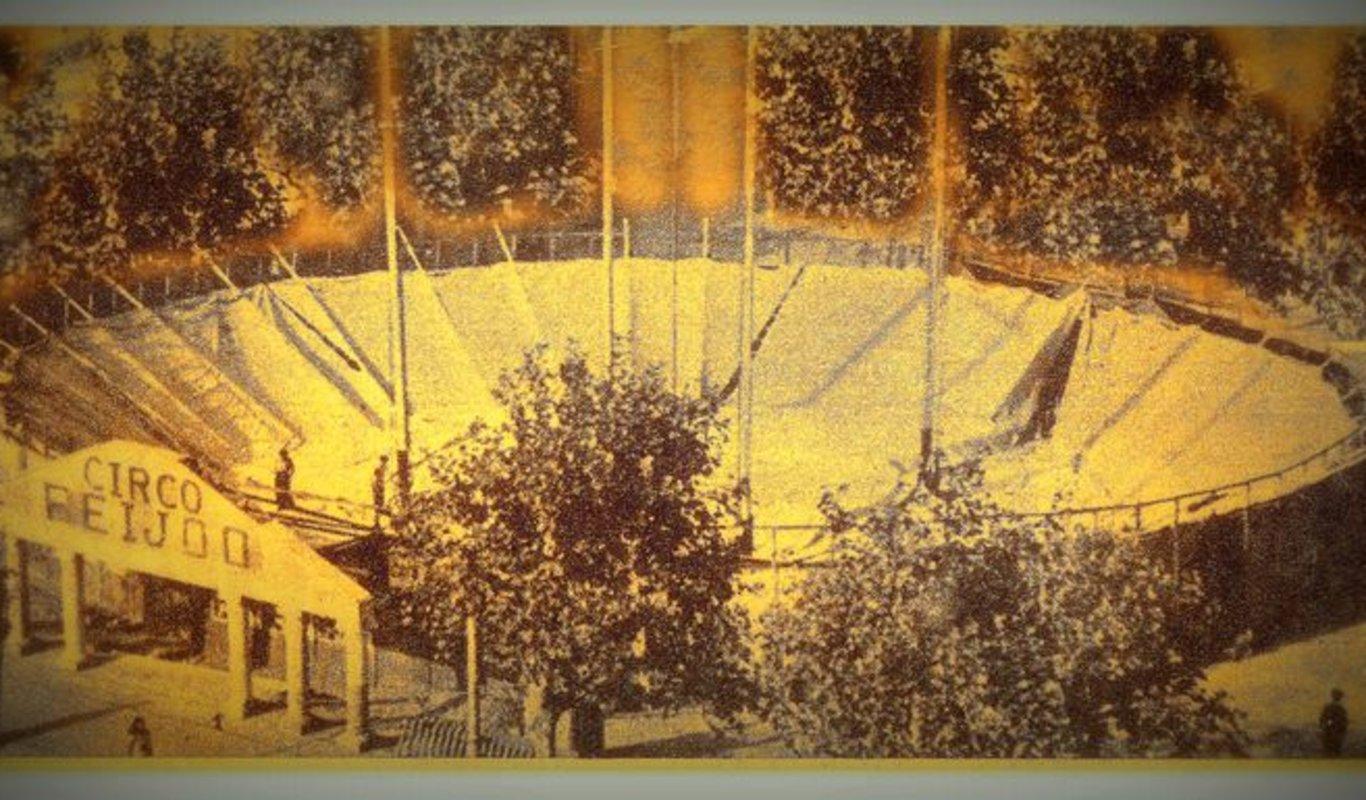 La carpa del Circo Feijóo, en la revista Destino (1948).