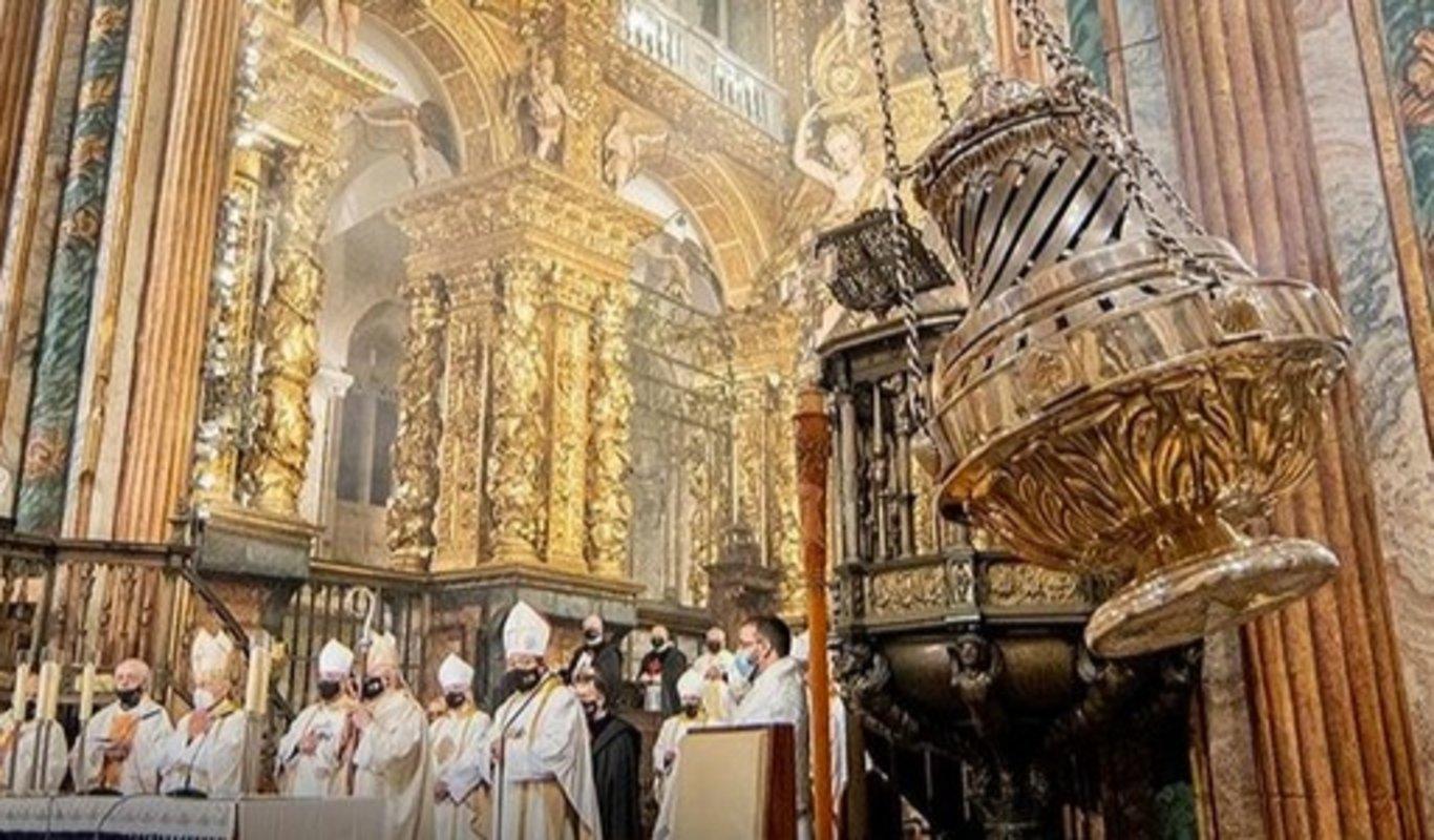 El botafumeiro en la Catedral de Santiago.