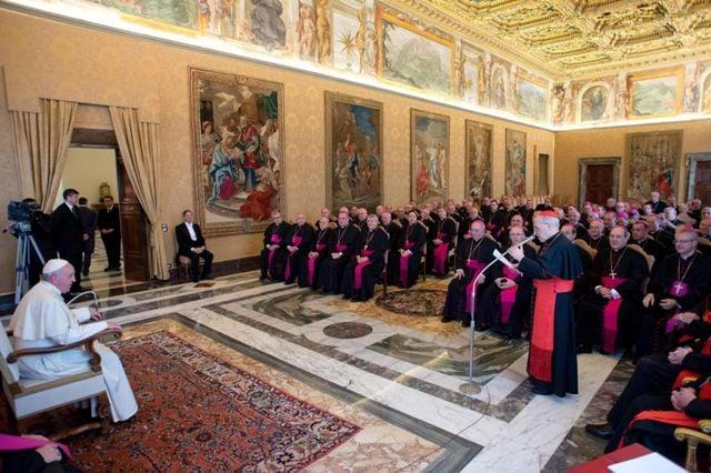 El Papa, en la audiencia con los obispos gallegos, asturianos y de León.