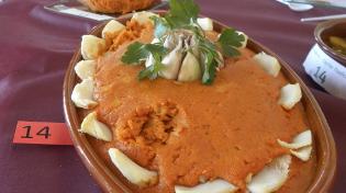 Imagen de uno de los platos de ajobacalao presentados al concurso gastronómico