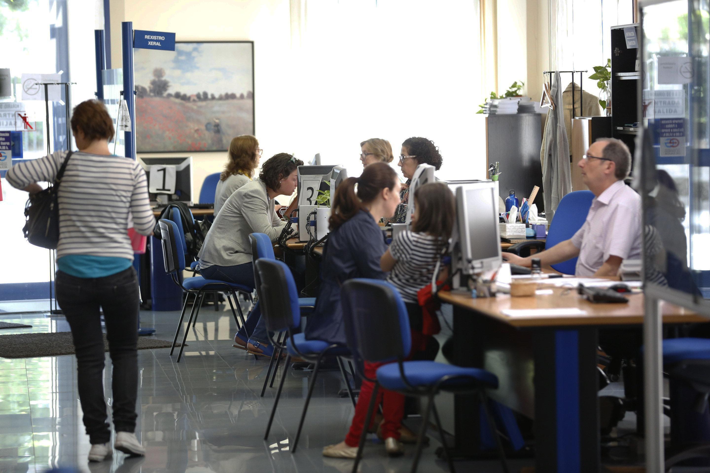 Oficiña de emprego en Ourense.
