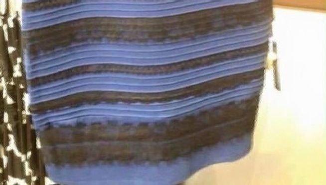 El vestido azul y negro