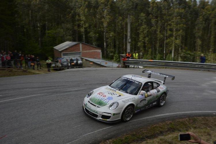 El Porsche 911 de los hermanos Vallejo en la prueba.