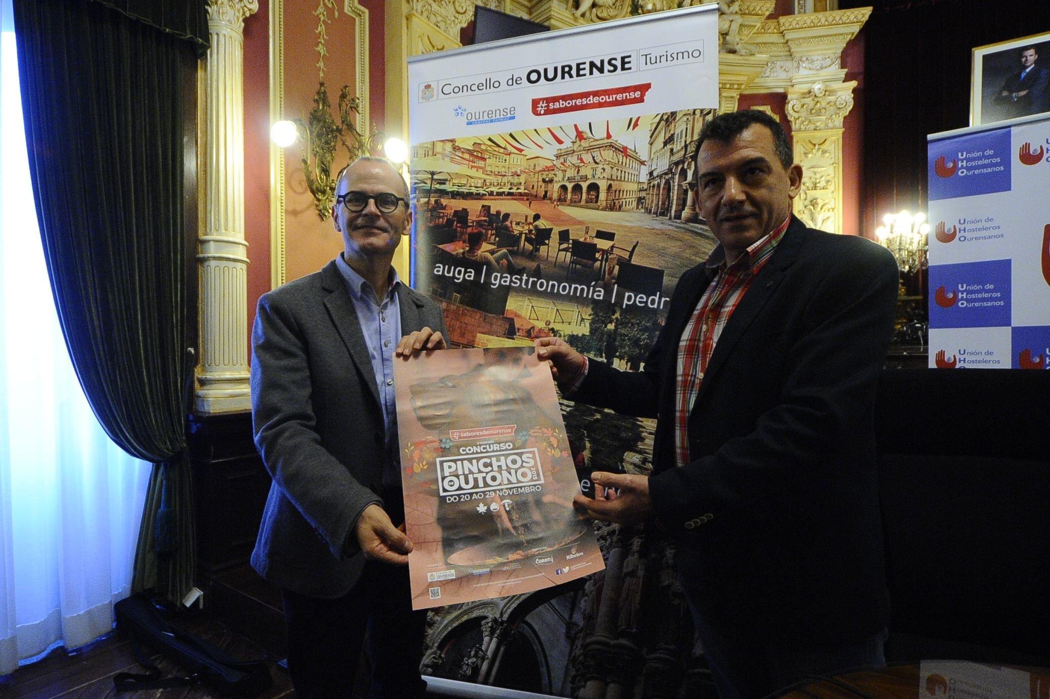 Jesús Vazquez y Javier Outomuro en la presentación del concurso gastronómico.