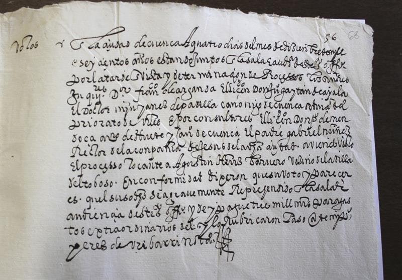 Fotografía facilitada por el investigador Javier Escudero, que ha localizado en el Archivo Diocesano de Cuenca la historia de un hidalgo caballero.