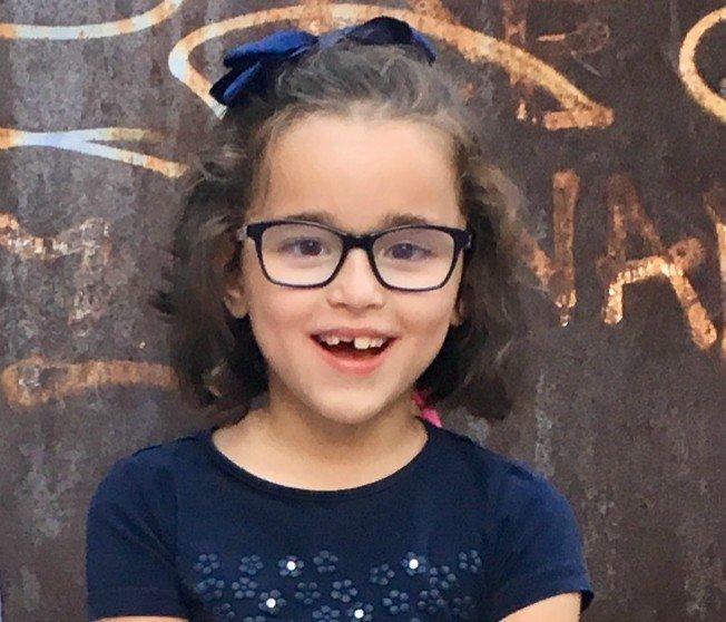 Valeria, de siete años.