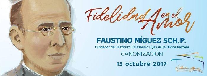 El Papa Francisco ha canonizado hoy al escolapio Faustino Míguez.  2017042017415310606