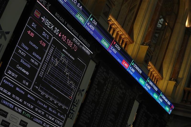 Imagen de la Bolsa madrileña el 20 de octubre.