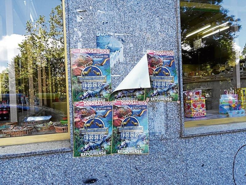 Carteler a ilegal en la zona del pos o de los lectores for Jardin del posio ourense