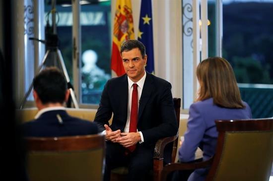 Sánchez anuncia que quiere agotar la legislatura y convocar elecciones en 2020