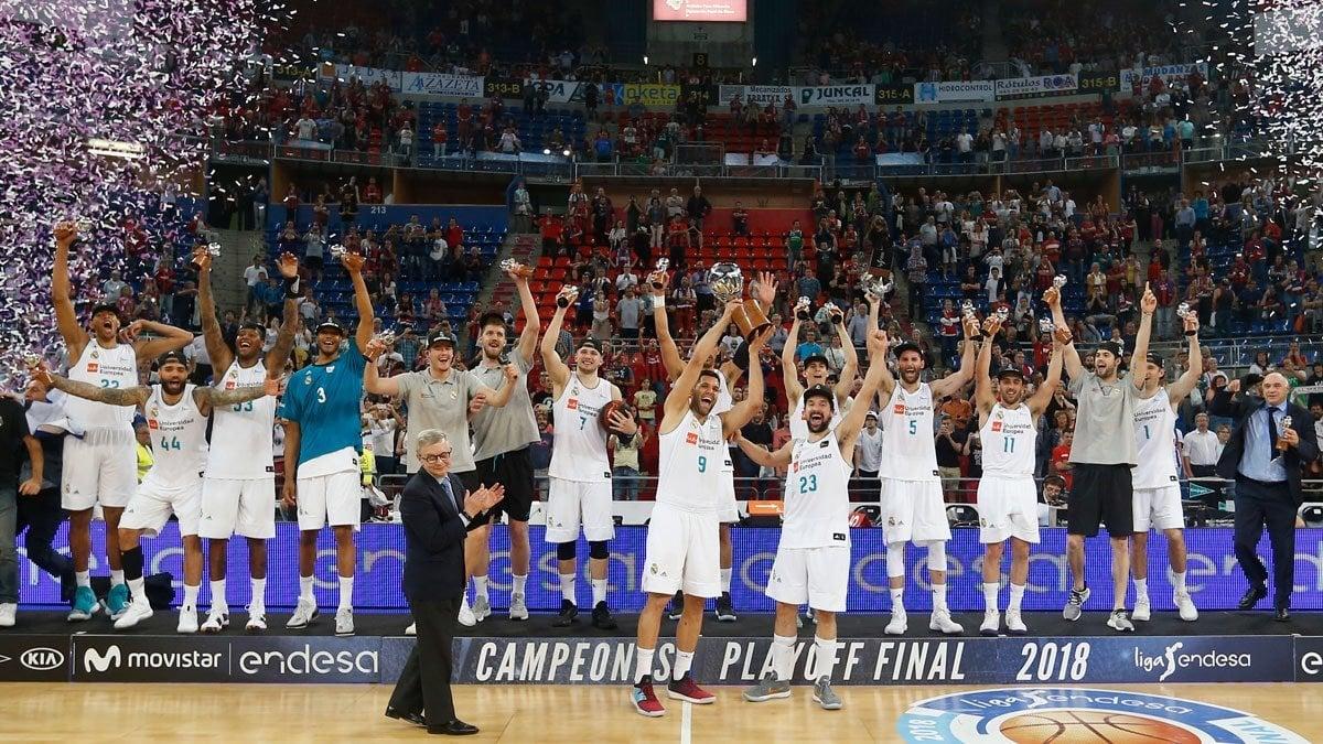 El Real Madrid se proclama campeón de Liga Endesa
