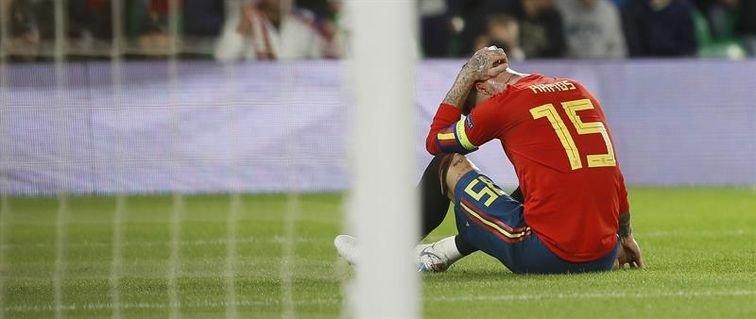 España decepciona ante Inglaterra