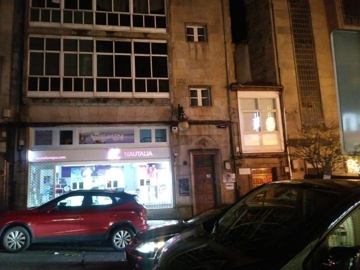 Luces fundidas en la calle Concordia