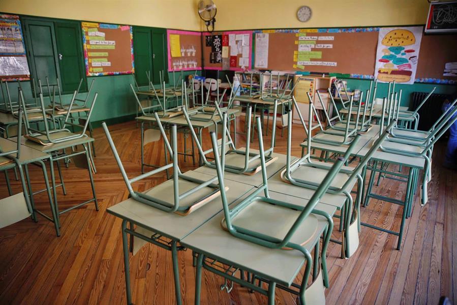 Un aula vacía (EFE).