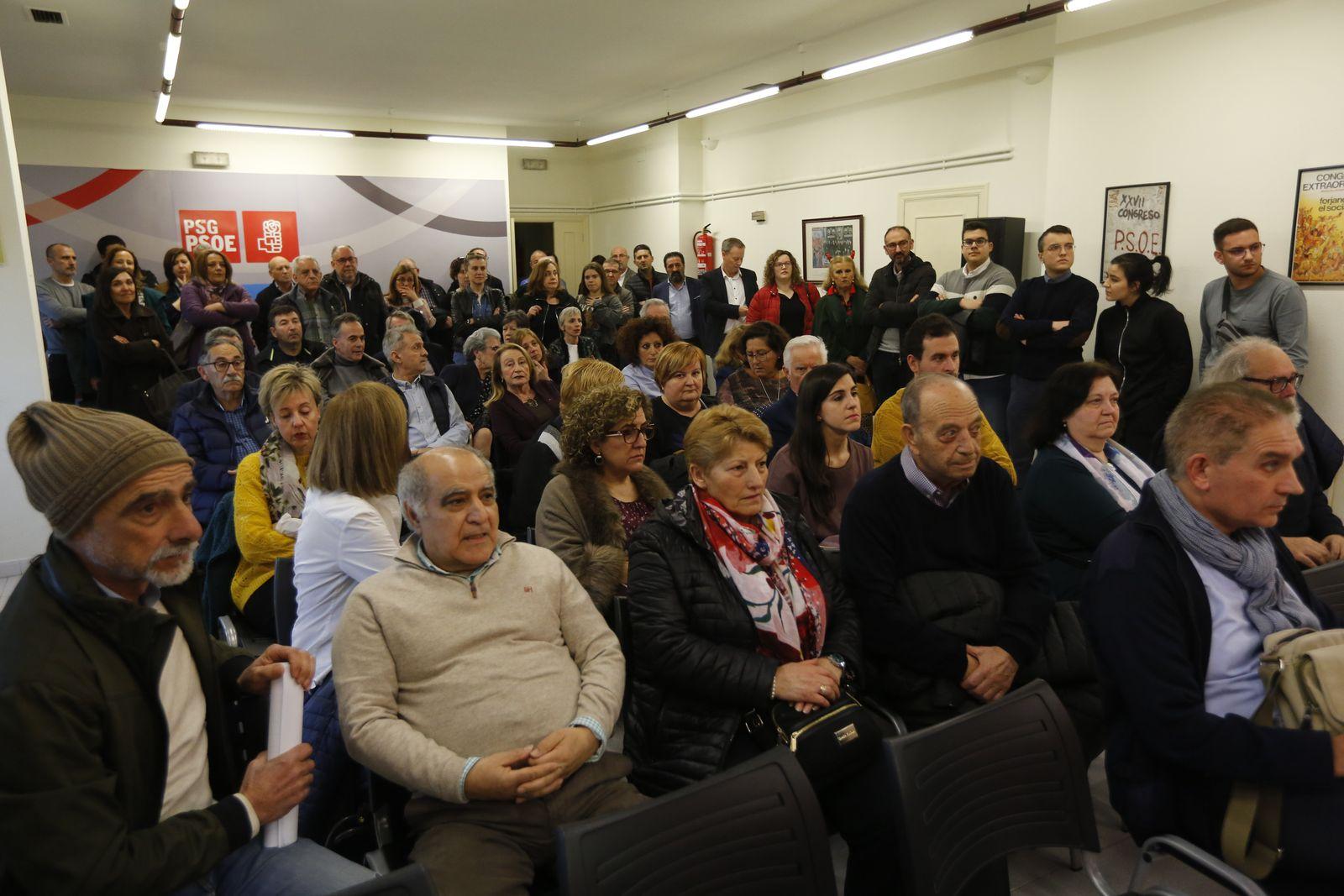 Ourense. 24/02/2020. Asamblea extraordinaria do Psoe. Foto: Xesús Fariñas