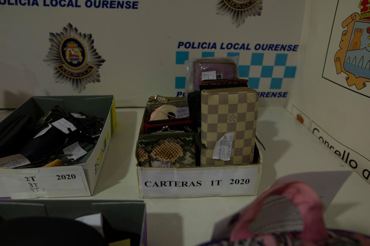 Ourense 18/1/21 Objetos perdidos en la policía local Fotos nartiño Pinal